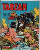 Collection TARZAN n°19. .Editions  Mondiales 1966.  HOGARTH. Tout en couleurs