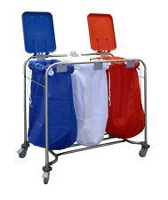 Medical Heavy Duty colori codificati Professionale Carrello Lavanderia con Coperchio Sacchetti Inclusi