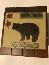 Bacova Big Country Bear Tissue Box Cover 6x6