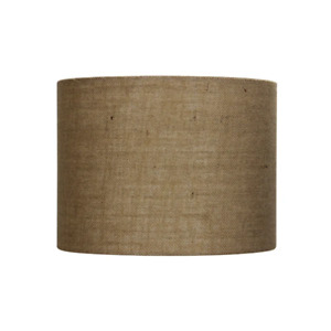 30Cm Natural Textured Drum Hessian Shade
