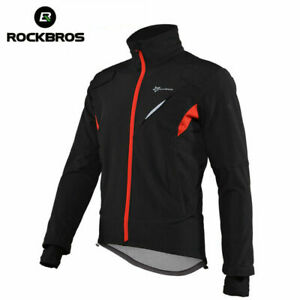 ROCKBRS Winter Jacket Thermal Fleece Bike Sportswear Reflective Cycling Coats