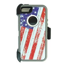 USA Flag for iPhone 5S / SE Defender Case Cover w/ Clip fits Otterbox