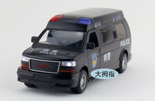 1:32 GMC POLICE CAR DIE CAST MODEL TOY CAR WITH LIGHT AND SOUND FOUR DOOR OPEN