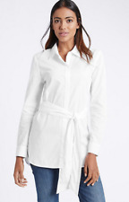 M&S COLLECTION  Pure Cotton Tie Waist Long Sleeve Shirt