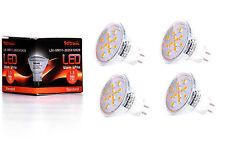 4X GU4 MR11 LED Lampe von Seitronic 1,5 Watt, 150LM und 12 LEDs Warm weiß 2900K