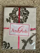 $185! Nwt Ann Gish Toscana Vines Linen Metal Euro Pillow Sham - Gorgeous!