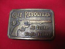 COLT REVOLVERS .45 CALIBER SINGLE ACTION CASTED METAL BELT BUCKLE