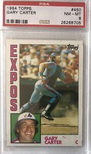 1984 Topps Gary Carter #450 PSA 8 Expos Mets HOF Bright Sharp