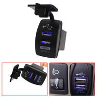 Waterproof 12-24V 3.1A Dual LED USB Car Auto Power Supply Charger Port Socket K