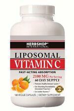 Liposomal Vitamin C - 2100mg - 180 Veggie Capsules Fast-Acting Absorption plus