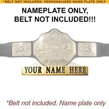 Custom Nameplate for Commemorative WWE World Hvwy Championship Replica Belt