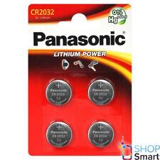 4 PANASONIC LITHIUM POWER CR2032 BATTERIES 3V COIN CELL BLISTER EXP 2028 NEW