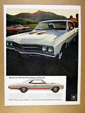 1967 Buick GS-340 GS340 white car orange rally stripe photo vintage print Ad