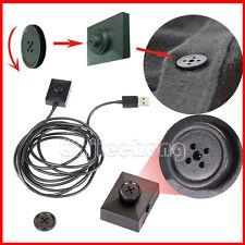 Black Mini Button Hidden Camera DVR 2 Meter Line HD Spy DV Video Recorder Cam