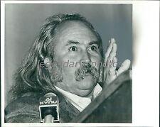 1989 Close Up of Singer David Crosby Original News Service Photo