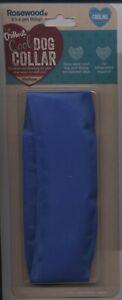 Rosewood comfort cooling dog collar blue medium size adjustable hook loop fasten