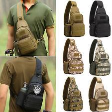 Men Canvas Camouflage Chest Bag Travel Sports Hiking Phone Money Key Purse