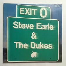 STEVE EARLE & THE DUKES - EXIT O * VINYL LP * FREE P&P UK* MCA RECORDS MCA 5998