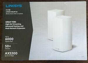NEW! LINKSYS VELOP MESH AX5300 MX10 2 PACK WIFI 6 MX10600