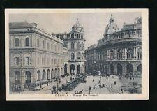 Italy GENOVA Genoa Piazza de Ferrari Trams Cars c1910/20s? PPC