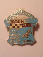 SPEEDWAY WORLD CHAMPIONSHIP GRAND PRIX 1996 OFFICIAL PIN BADGE VERY GOOD CON