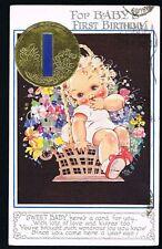 RICHARDSON, Agnes - Baby's 1st Birthday Greetings Postcard #8580