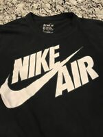 Nike Air Athletic Logo Tee Short Sleeve T-Shirt Black Mens Size Medium