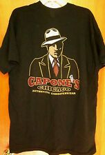 CAPONE'S crime boss tee XL caricature Chicago T shirt Authentic Gangsterwear