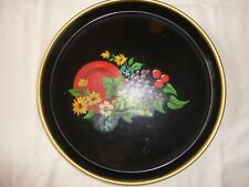 Metal Serving Tray Floral Decal Mid Century Modern , Shabby Chick