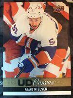 UPPER DECK 2013-2014 SERIES ONE CANVAS FRANS NIELSEN HOCKEY CARD C-11