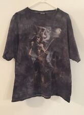 Delta Pro Weight T Shirt 2XL Short Sleeve Blue Gray Skeleton Guitar Dead B164