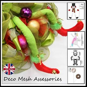 Deco Mesh Wreath Accessory - Bunny Heads & Legs, Lollipops - UK