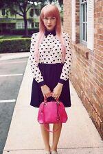 Polyester Geometric Casual Shirt Dresses