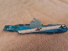 Vintage tootsie toys aircraft carrier made usa authentic original metal