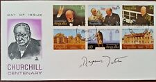 MARGARET THATCHER SIGNED CHURCHILL CENTENARY COVER ORIGINAL