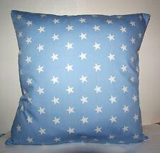 """COOL RETRO PALE BLUE STARS  CUSHION COVER 16""""x16"""""""