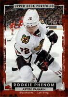 2015-16 Upper Deck Portfolio Blackhawks Hockey Card #215 Artemi Panarin Rookie