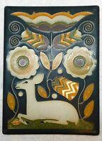 "MOTAWI TILEWORKS VIENNA WOODS  6""x 8''  American Polychrome Art Tile"