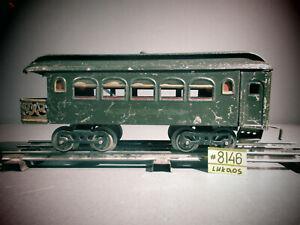 1912 LIONEL PREWAR TRAIN -NEW YORK CENTRAL LINES OBSERVATION CAR VG.