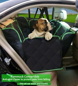 """""""New"""" Large Pet Car Seat Hammock style Cover for dogs,  with Pet Safety Belt"""