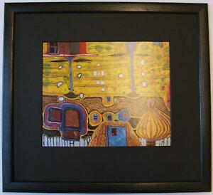 HUNDERTWASSER YELLOW LIKE JEALOUSY FRAMED ABSTRACT ART Print