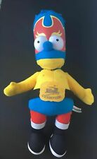 """The Simpsons Bart Simpson 22"""" Plush Toy Dressed as a Wrestler"""