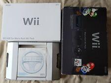 In scatola nera Wii Console + Mario Kart Super + MotionPlus Remote Pack + Ruota