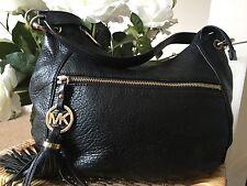 Lovely Designer MICHAEL KORS CHARM TASSEL BLACK MEDIUM  CONVERTIBLE SHOULDER BAG