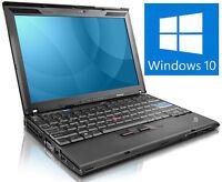 Lenovo X200 ThinkPad  Intel Core Duo 2,26GHz, 2GB, 160GB HDD WIN10 Professional