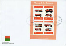Madagascar 2019 FDC Fire Engines Trucks 4v M/S Cover Stamps