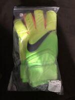 $130 Nike GK goalie gloves Sz 10 Soccer Goalkeeper electric green PGS225 365