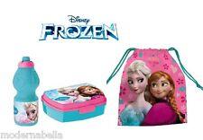 Frozen Rosa set colazione Box porta panini merenda borraccia + sacchetto scuola