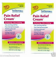 2 PACK TriDerma Pain Relief Cream Medical Strength 2.2oz 182228000403DT
