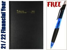 Collins 2021 - 2022 Financial Year Diary A5 Week to View Black 38m4